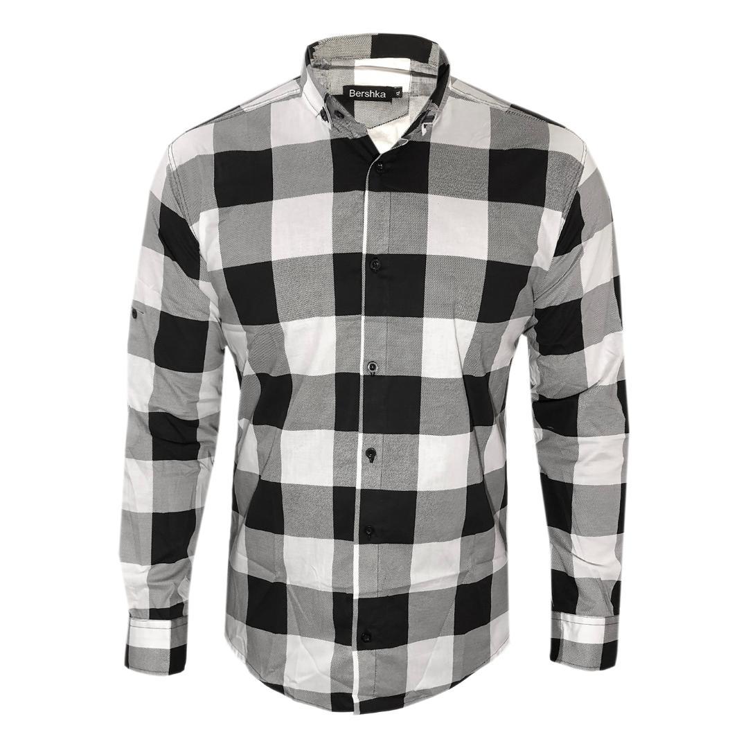 پیراهن مردانه کد AS07 رنگ مشکی