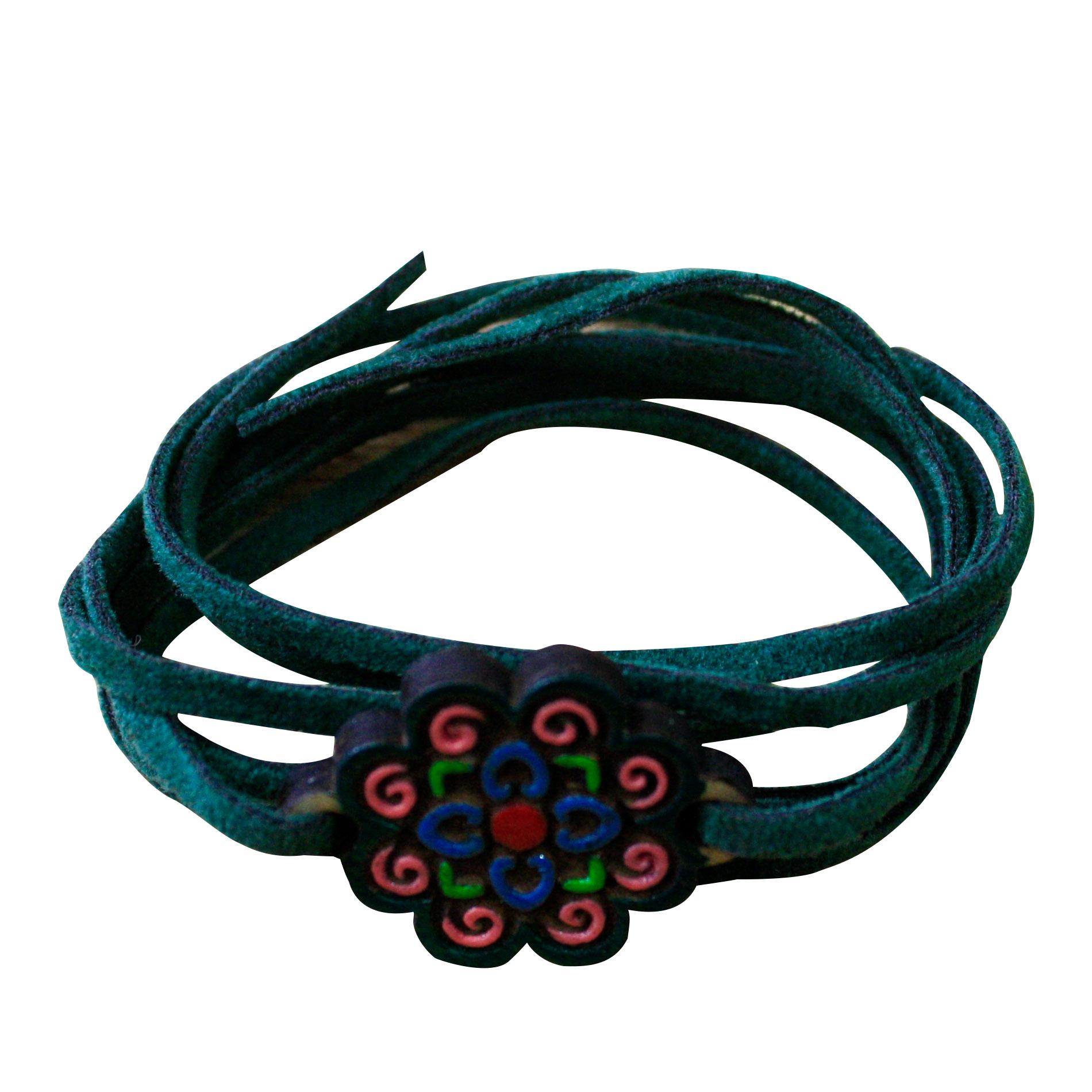 دستبند زنانه طرح گل کد 003