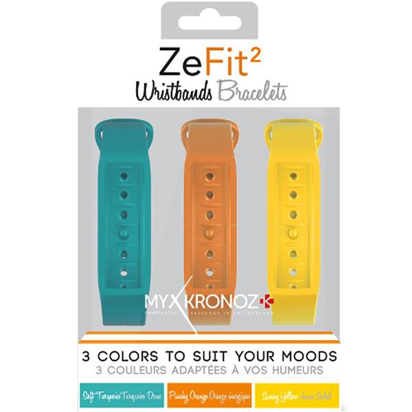 پک 3 عددی بند مچبند هوشمند مای کرونوز مدل ZeFit2 X3 Colorama