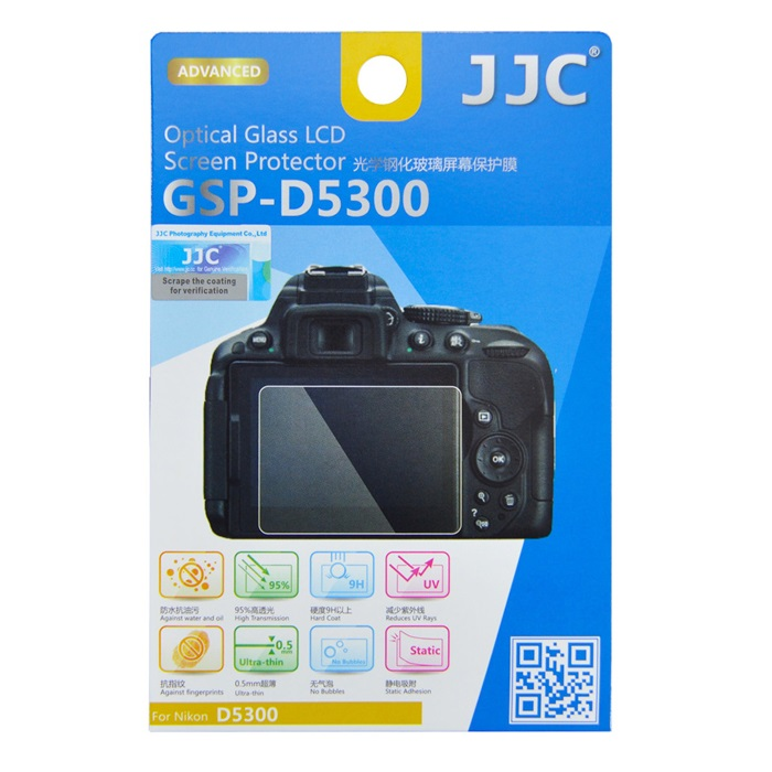 بررسی و {خرید با تخفیف} محافظ صفحه نمایش دوربین جی جی سی مدل GSP-D5300 مناسب برای دوربین نیکون D5300 اصل