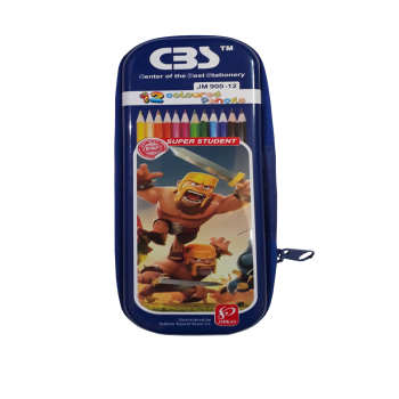 مداد رنگی ۱۲ رنگ سی بی اس  مدل 920