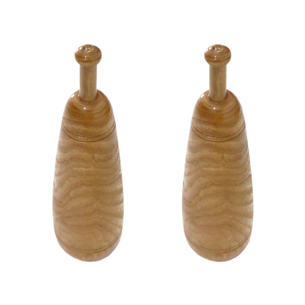 ماکت چوبی طرح میل زورخانه کد Am-Kh-M-01 بسته دو عددی