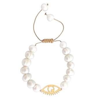 دستبند طلا 18عیار زنانه طرح چشم کد N17