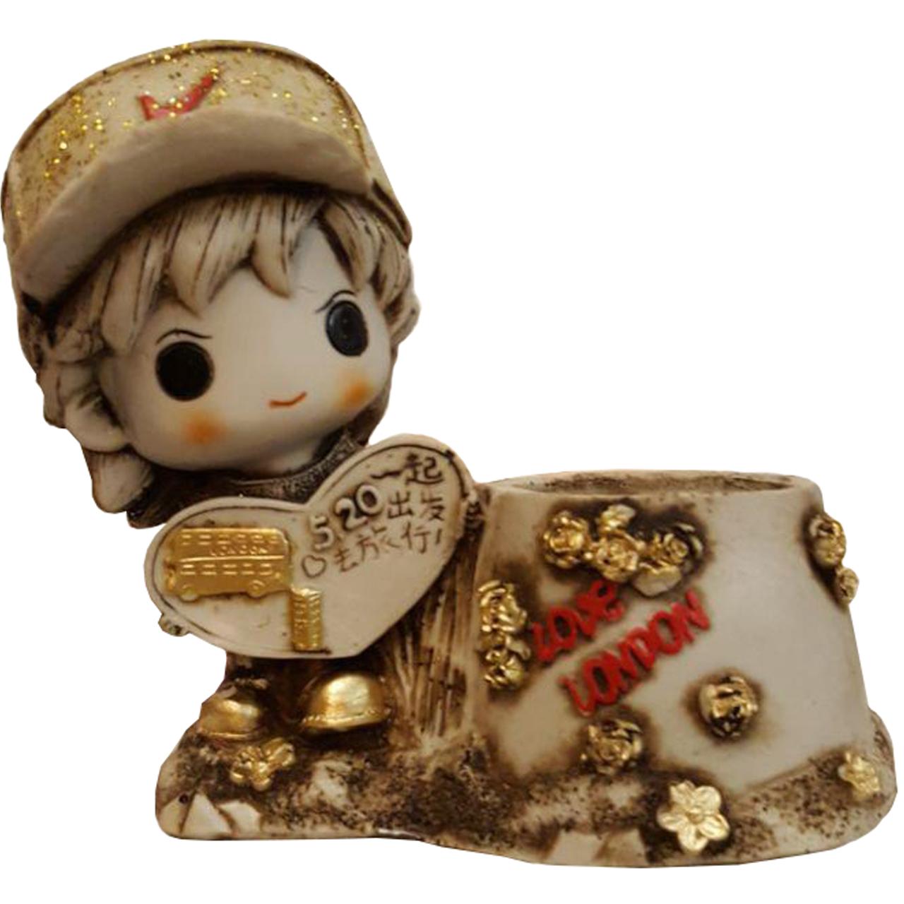 جامدادی رومیزی لیلپار طرح پسر تابلو فروش مدل DGA-2075