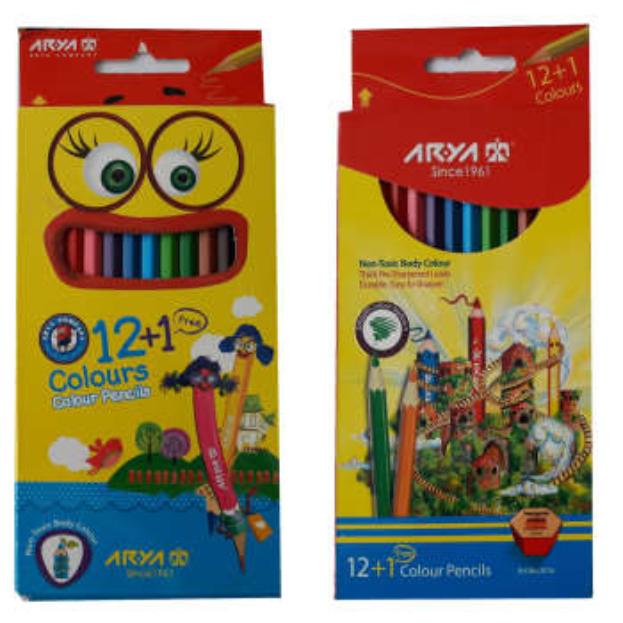 مداد رنگی 12 رنگ آریا کد 3016 بسته 2 عددی