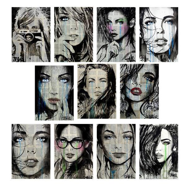 تابلو چاپ سی طرح آثار لویی پل جور مجموعه 11 عددی