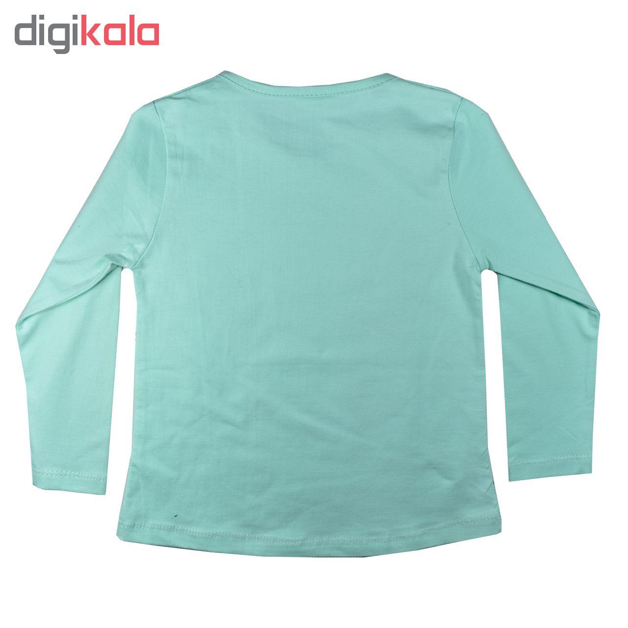 ست تی شرت و شلوار دخترانه نیروان کد 1639-2