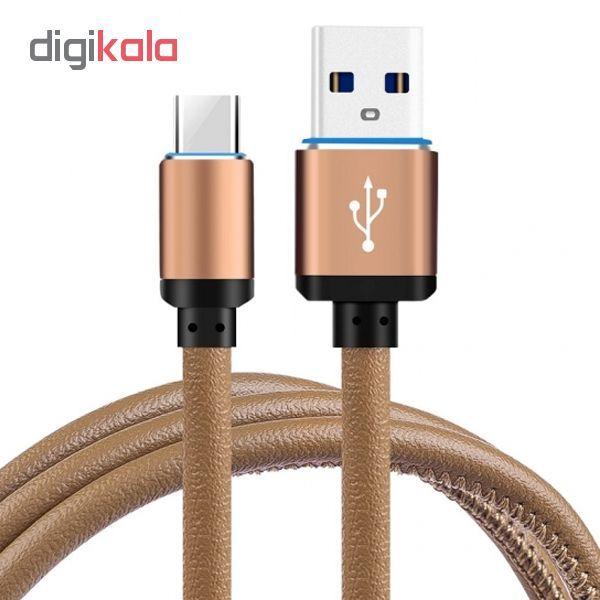کابل تبدیل USB به USB-C مدل pu-sm55 طول 2 متر main 1 1