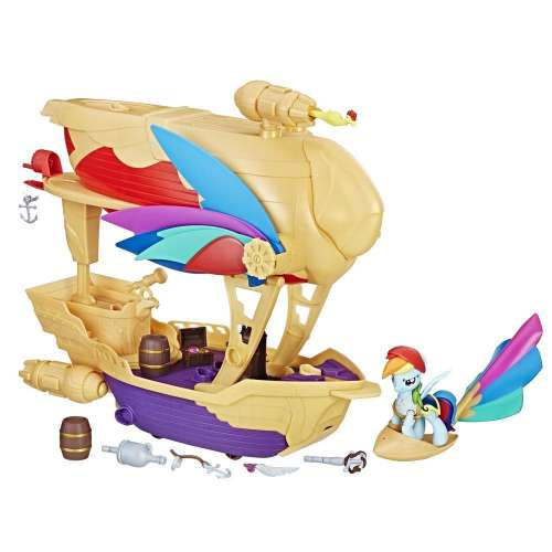کشتی هاسبرو طرح مای لیتل پونی سری The Movie مدل Pirate Airship C1059