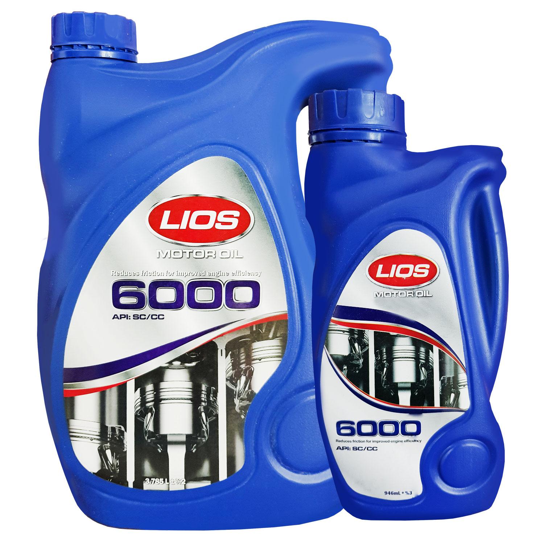روغن موتور خودرو لیوس مدل 6000 بسته 2 عددی