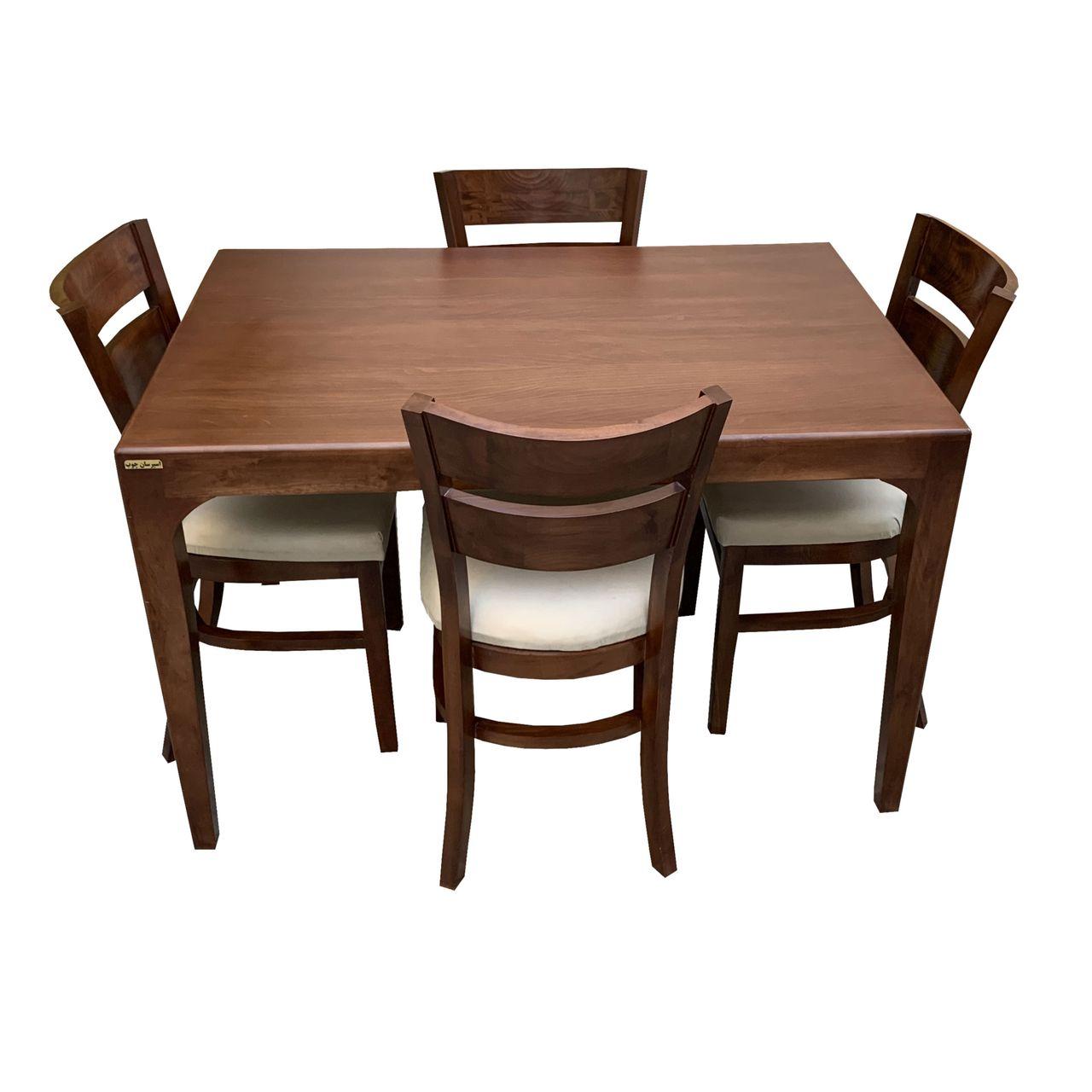 میز و صندلی ناهار خوری اسپرسان چوب کد Sm50