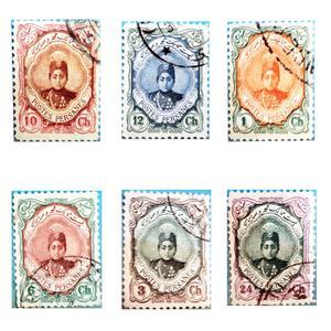 تمبر یادگاری سری قاجار مدل احمدی کوچک کد 002 مجموعه 6 عددی