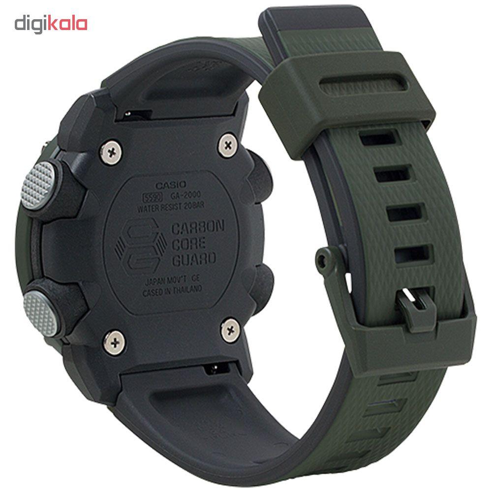 کد تخفیف                                      ساعت عقربه ای مردانه کاسیو مدل جی شاک کد ga-2000-3a