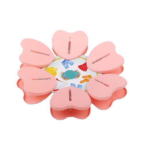 گیره آویز مدل قلب G6 بسته 6 عددی