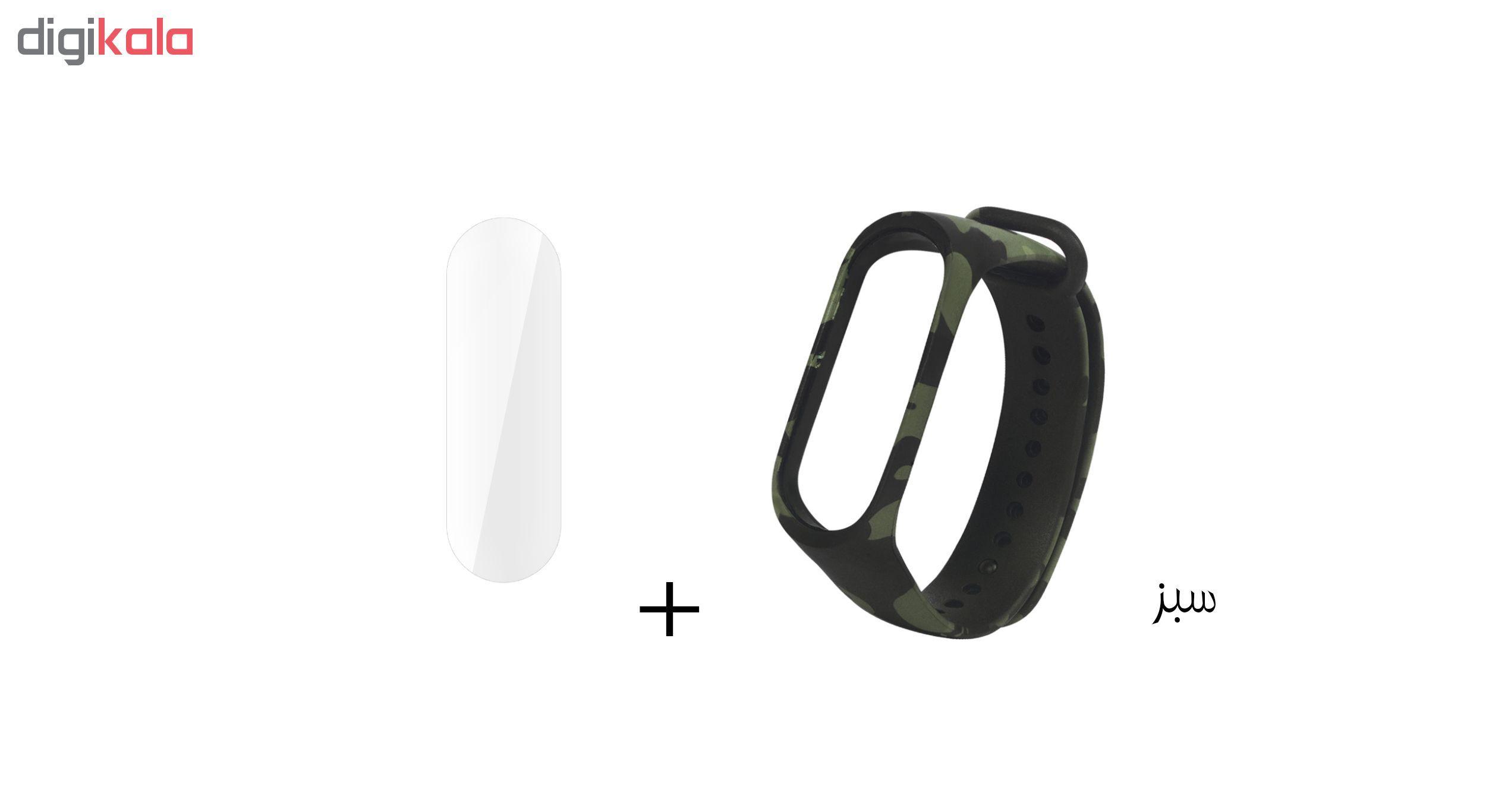 بند سومگ مدل  SMG-K4 مناسب برای مچ بند هوشمند شیائومی Mi Band 4 به همراه محافظ صفحه نمایش main 1 1