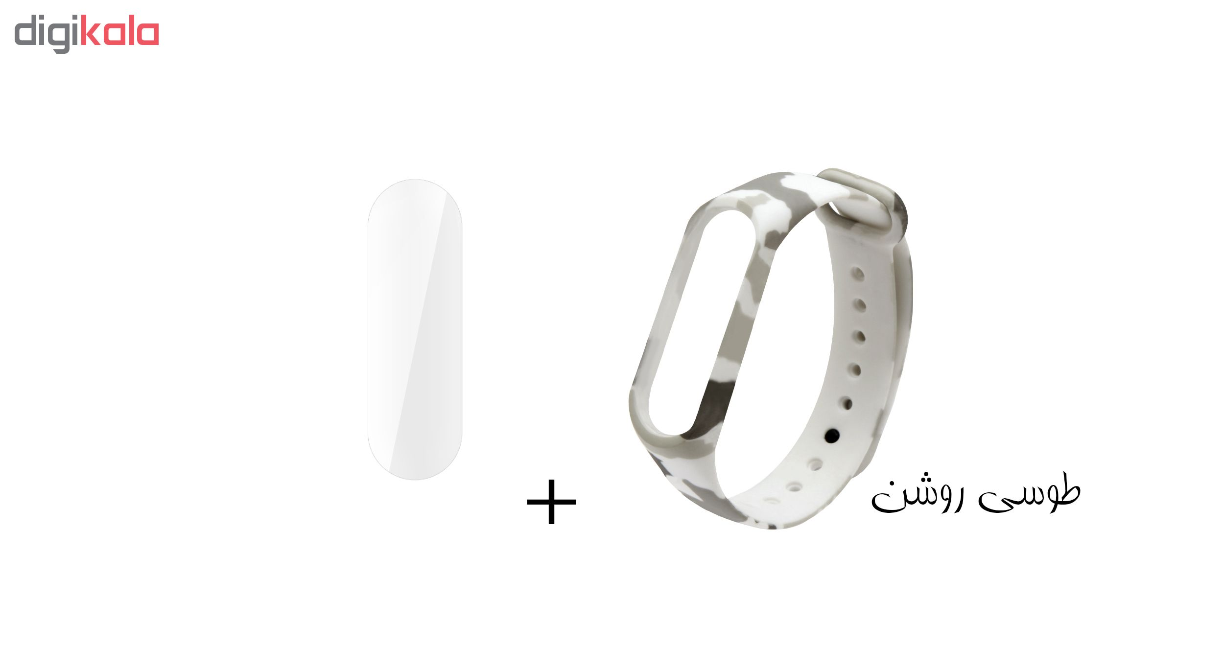 بند سومگ مدل  SMG-K4 مناسب برای مچ بند هوشمند شیائومی Mi Band 4 به همراه محافظ صفحه نمایش