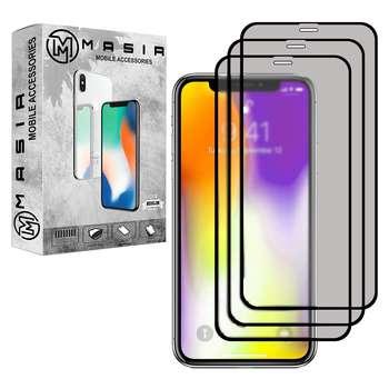 محافظ صفحه نمایش مات مسیر مدل MGFMT-3 مناسب برای گوشی موبایلاپل iPhone XR بسته سه عددی