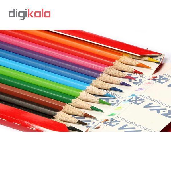 مداد رنگی 12 رنگ آریا کد 3016 به همراه آبرنگ 6 رنگ آریا کد 5001 main 1 2