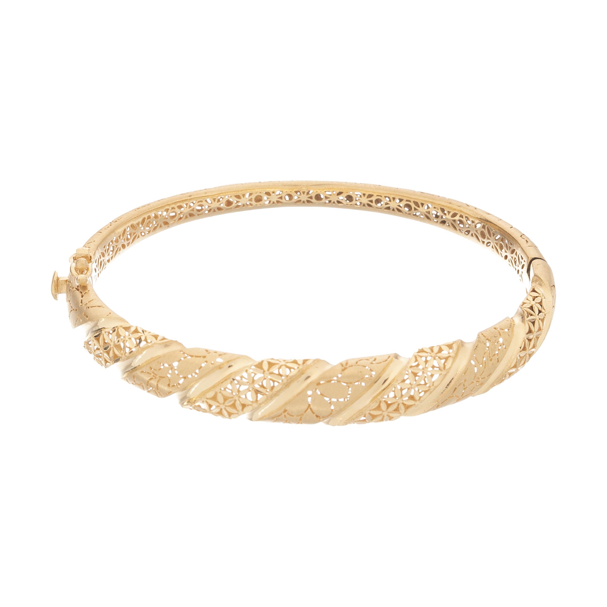 دستبند النگویی طلا 18 عیار زنانه کد 15