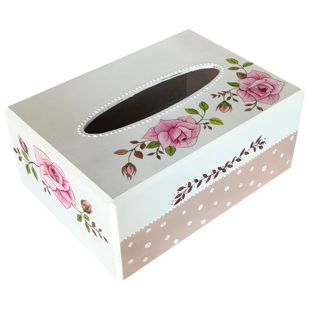 جعبه دستمال کاغذی طرح گل رز کد 2023