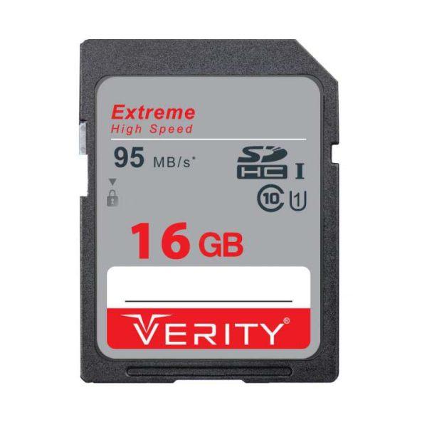 کارت حافظه SDHC وریتی مدل V30 کلاس 10 استاندارد UHS-I  سرعت 95MBps ظرفیت 16 گیگابایت