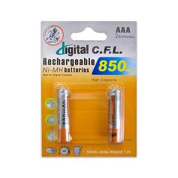 باتری نیم قلمی قابل شارژ دیجیتال سی.اف. ال مدل B-85 بسته 2 عددی