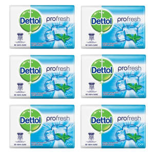 صابون ضد باکتری دتول مدل Pro fresh Cool وزن 105 گرم مجموعه 6 عددی