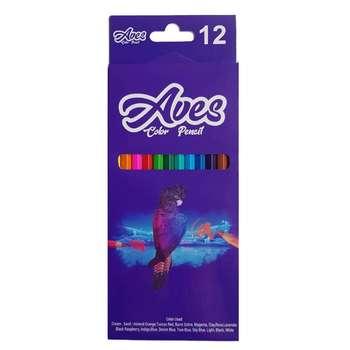 مداد رنگی 12 رنگ اویز مدل فانی