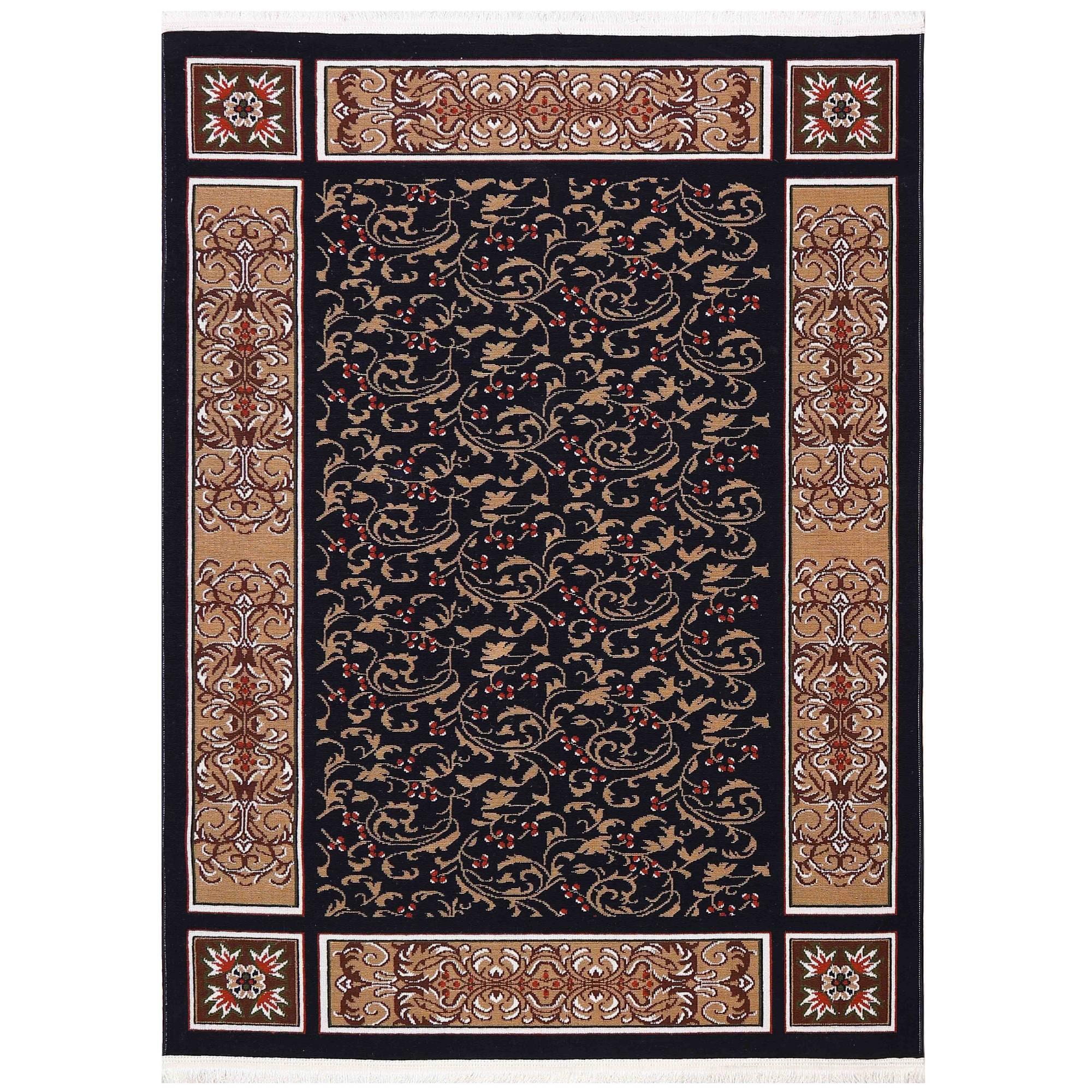 گلیم ماشینی دنیای فرش مدل نارین پارمیس
