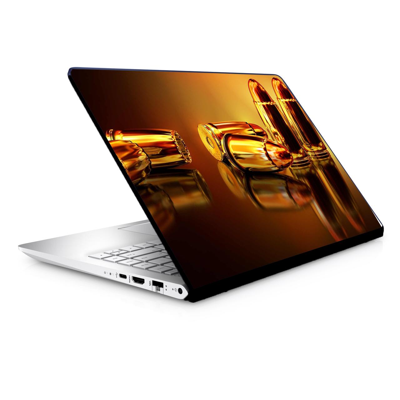 استیکر لپ تاپ طرح تفنگ مدل TIE215 مناسب برای لپ تاپ 15.6 اینچ