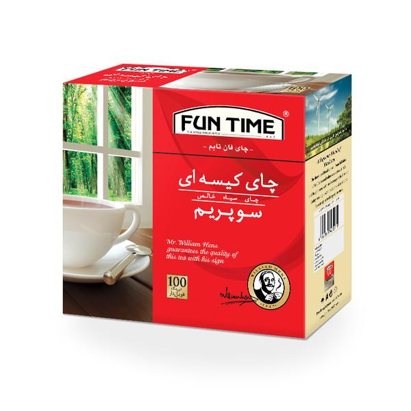 چای کیسه ای فان تایم مدل سوپریم بسته 100 عددی