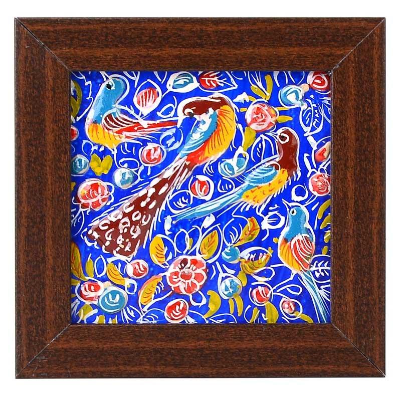 تابلو کاشی کاری گالری رجایی طرح گل و مرغ کد 1010003119
