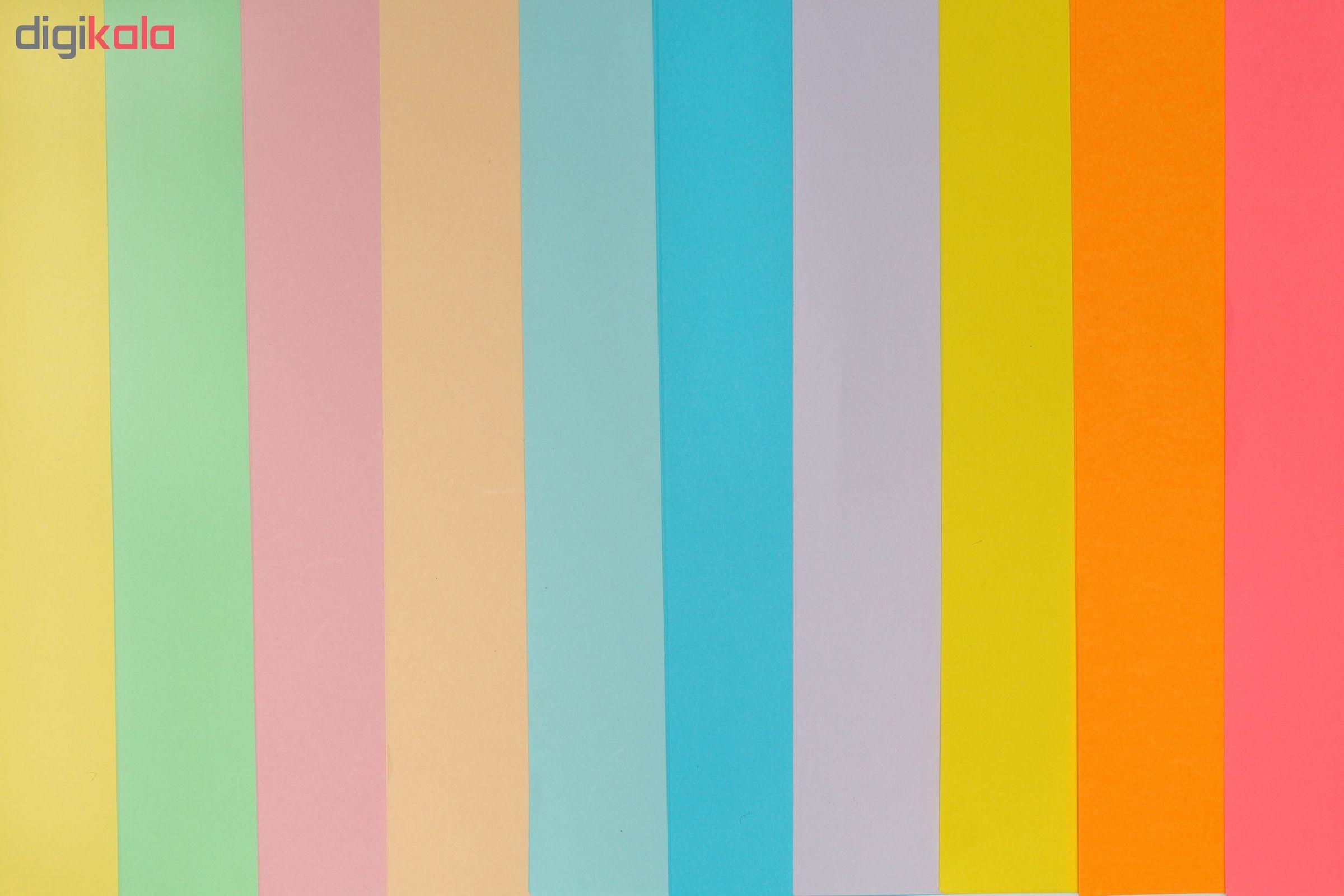 کاغذ رنگی A4 مدل Rangin kaman بسته 50 عددی main 1 2