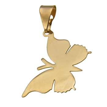 آویز گردنبند طلا 18 عیار زنانه طرح پروانه کد 442M160