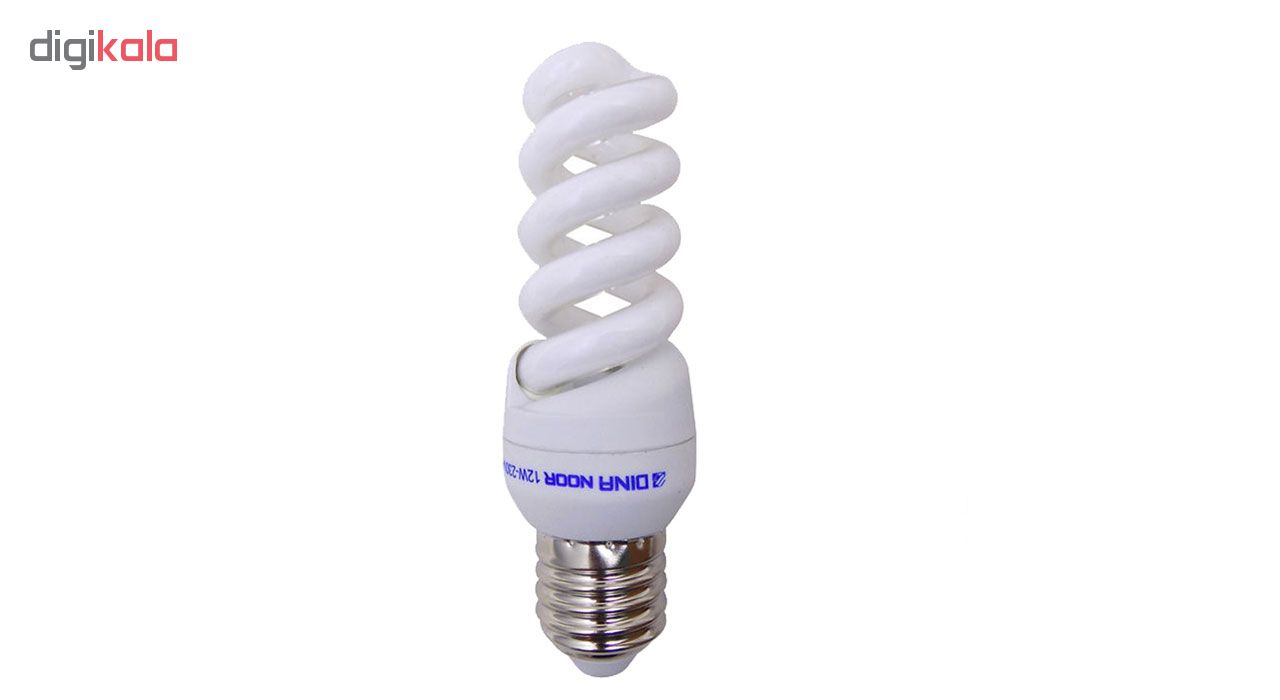 لامپ کم مصرف 12 وات دینا نور مدل DN 08 پایه E14