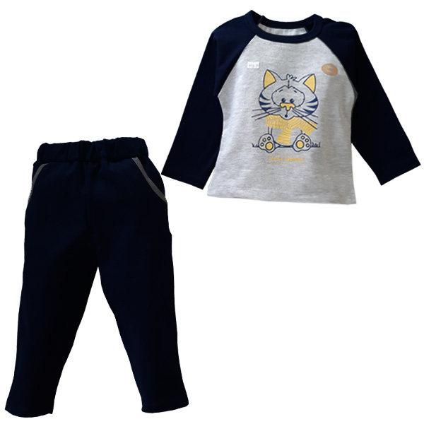 ست تی شرت و شلوار پسرانه طرح گربه کد 1135