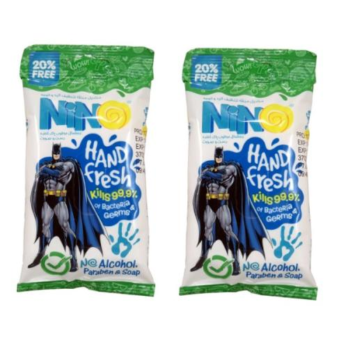 دستمال مرطوب نینو طرح Bat Man مجموعه 2 عددی