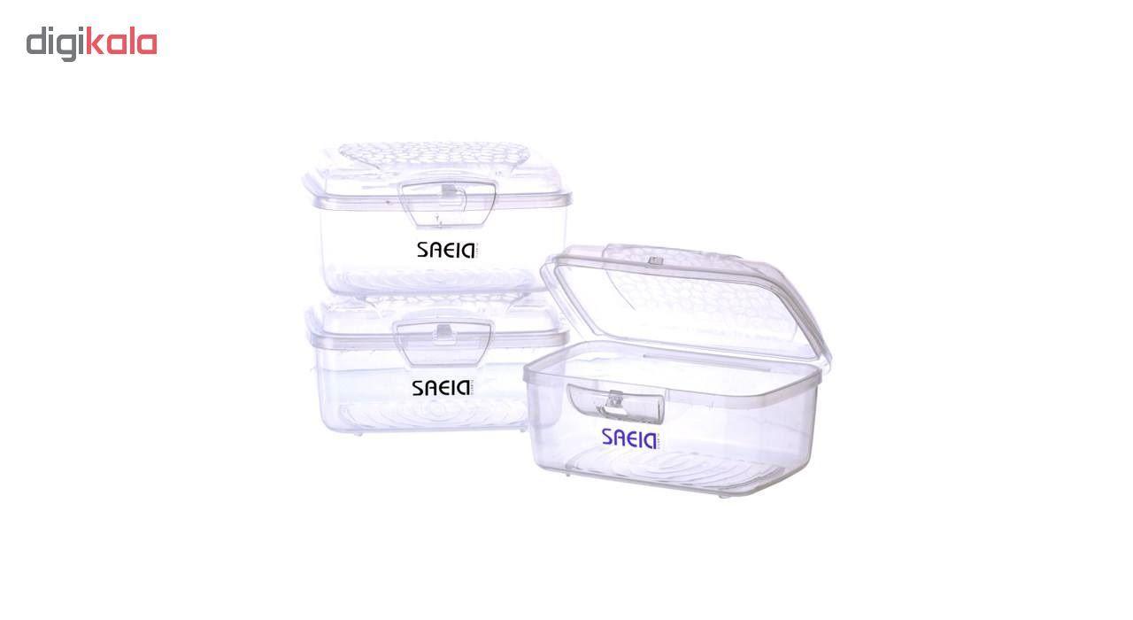 ظرف نگهدارنده سعید پلاستیک طرح برگ بسته 3 عددی main 1 5