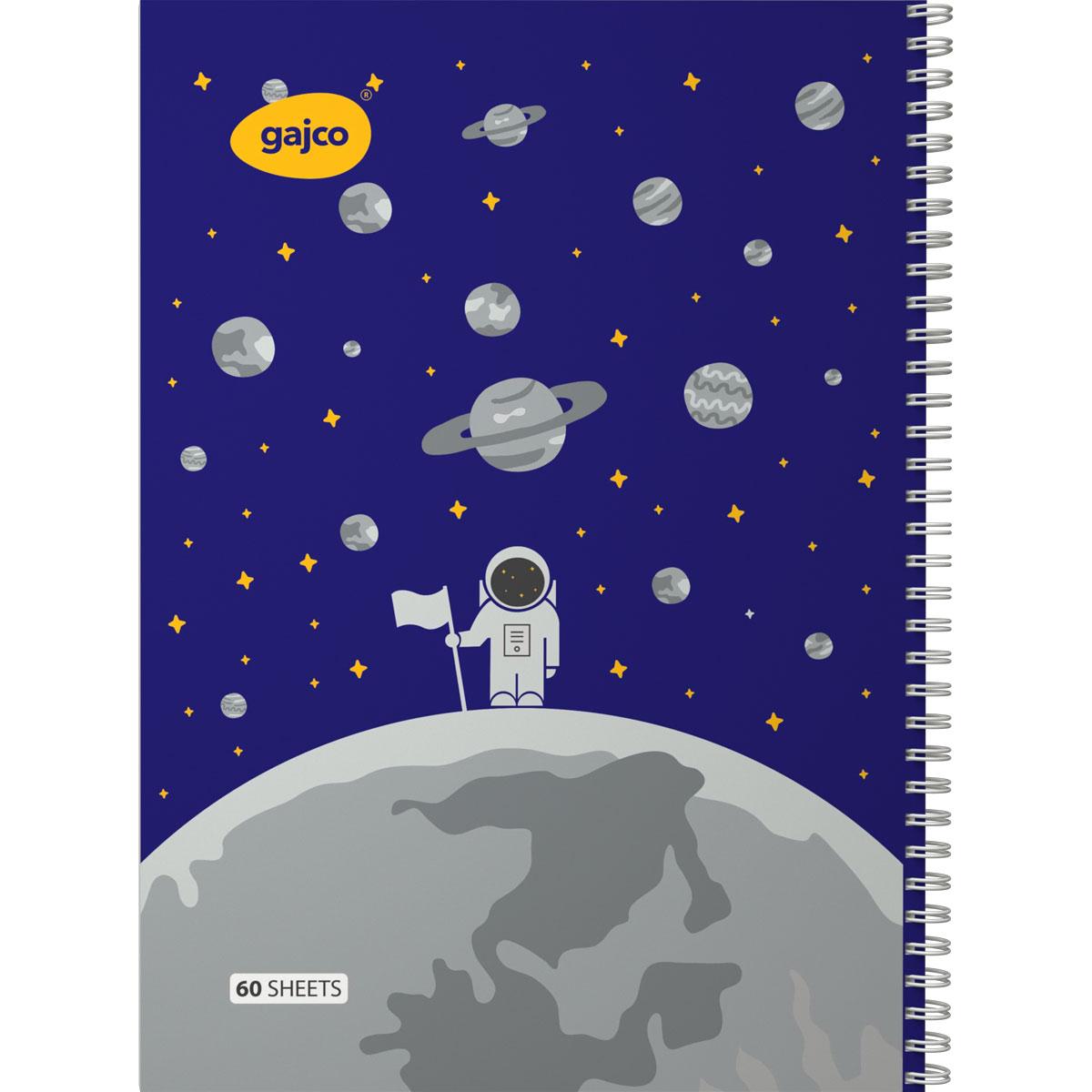 دفتر سیمی 60 برگ گاجکو طرح سفر به ماه با رایحه شکلات
