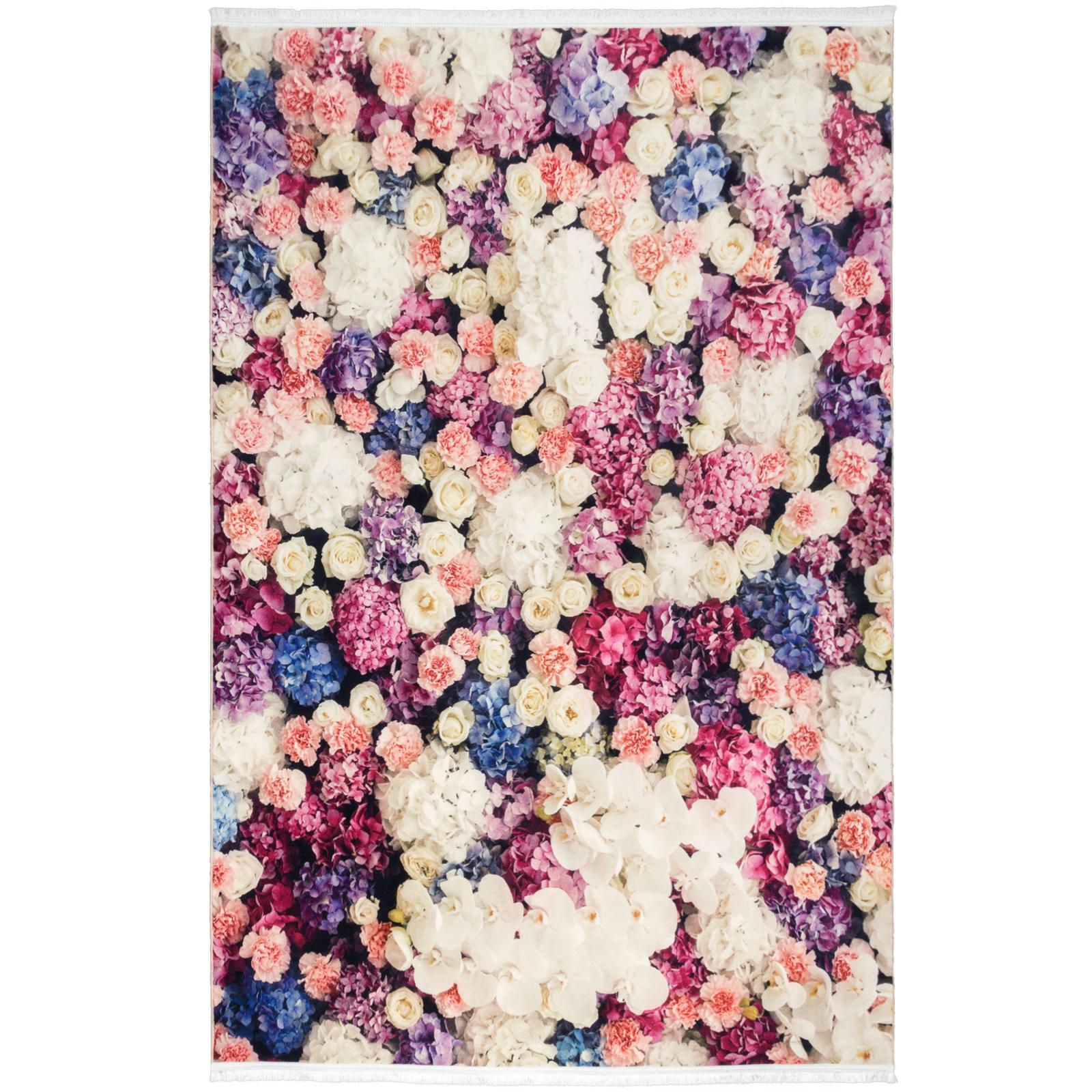 فرش ماشینی محتشم طرح گل کد 100445