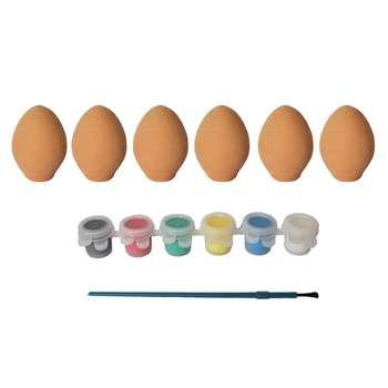 بازی آموزشی رنگ و تخم مرغ سفالی آرتینا کد 2301001 مجموعه 6 عددی