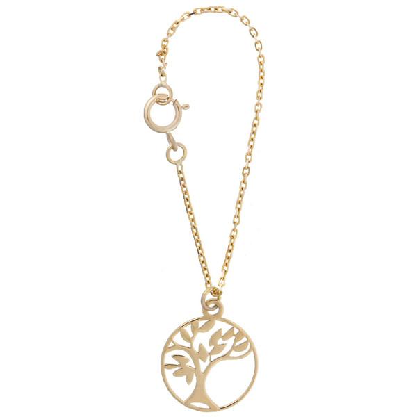 آویز ساعت طلا 18 عیار زنانه طرح درخت کد SG336