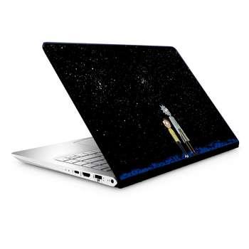 استیکر لپ تاپ طرح ریک مورتی مدل TIE266 مناسب برای لپ تاپ 15.6 اینچ