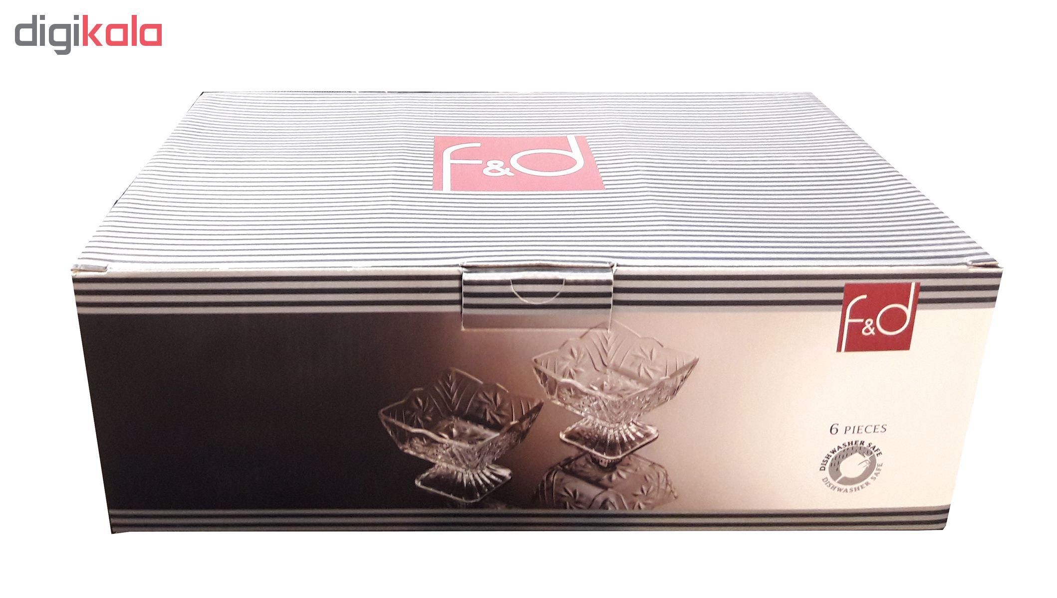 بستنی خوری پاشاباغچه مدل F&D کد 95466 بسته 6 عددی