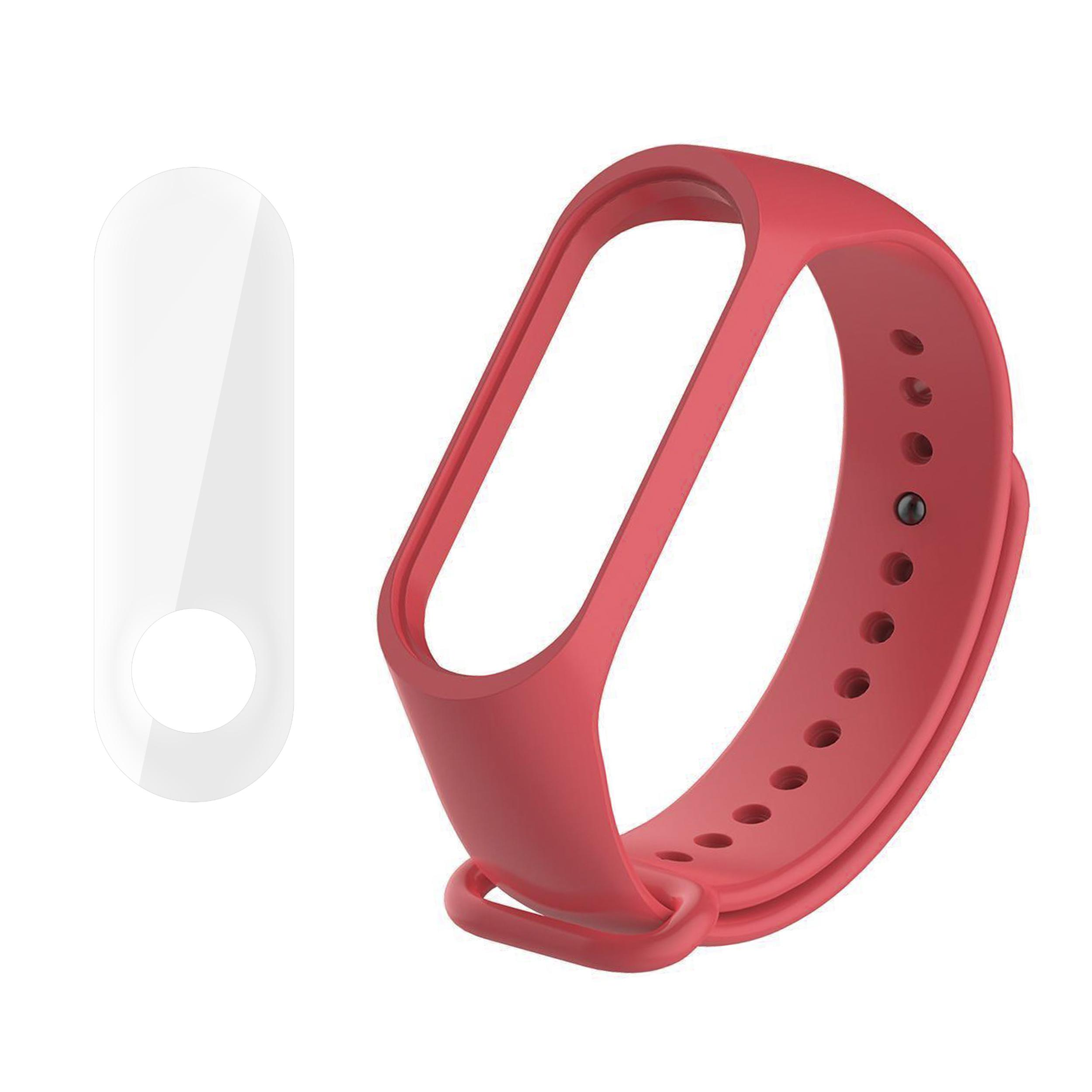 بند سومگ مدل SMG-K2 مناسب برای مچ بند هوشمند شیائومی Mi Band 3 به همراه محافظ صفحه نمایش