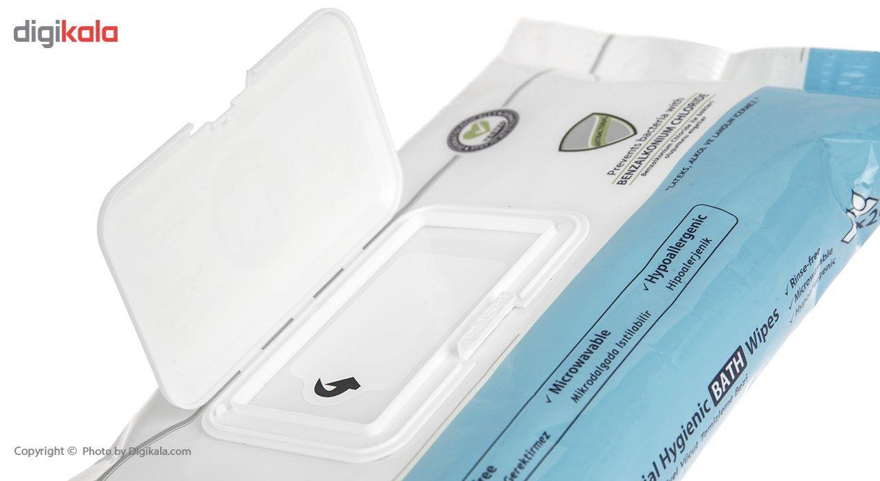 دستمال مرطوب حمام یونی لد مدل Antibacterial Hygenic بسته 24 عددی main 1 3