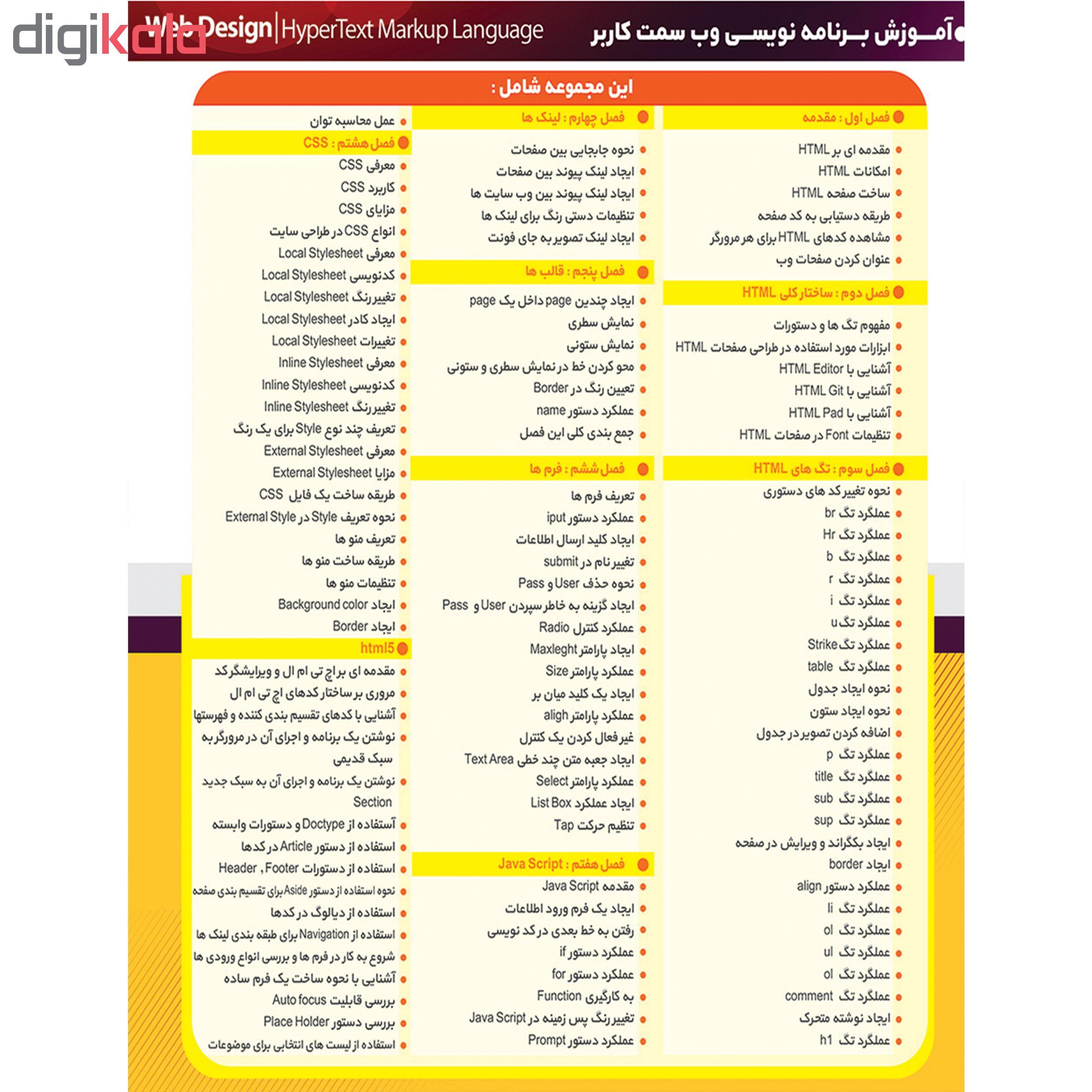 نرم افزار آموزش HTML 5 نشر پدیا سافت به همراه نرم افزار آموزش WORDPRESS نشر پدیده