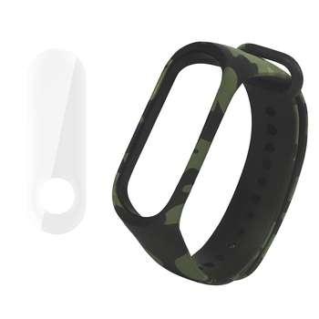 بند سومگ مدل  SMG-K4 مناسب برای مچ بند هوشمند شیائومی Mi Band 3 به همراه محافظ صفحه نمایش