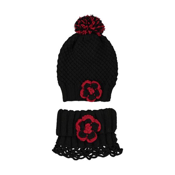 ست کلاه و شال گردن بافتنی کد HYM1