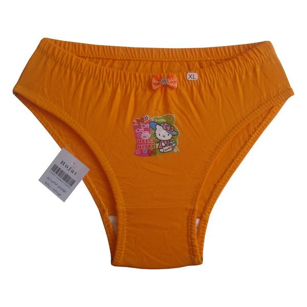 شورت دخترانه حجت طرح Hello Kitty کد KI-20384 رنگ نارنجی